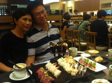 Parents and sushi; Genki Sushi