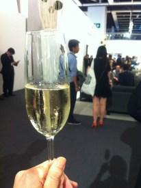 A glass of Perrier-Jouët Belle Epoque at the opening