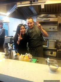 Me in the kitchen with Chef Anthony; Madam Sixty Ate