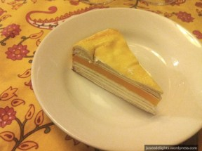 Mango Mille Crepe Cake; Table One