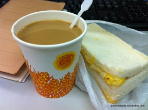 Coffee and Egg Sandwich; Mai Tak Cafe