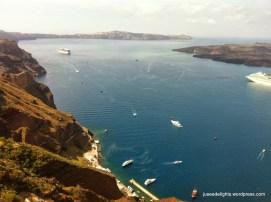 View from Zafora, Santorini, Greece