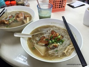 Noodle with Pepper Soup with Barbecued Lemongrass Chicken Steak (HK$38); Singapore and Malaysia Canteen