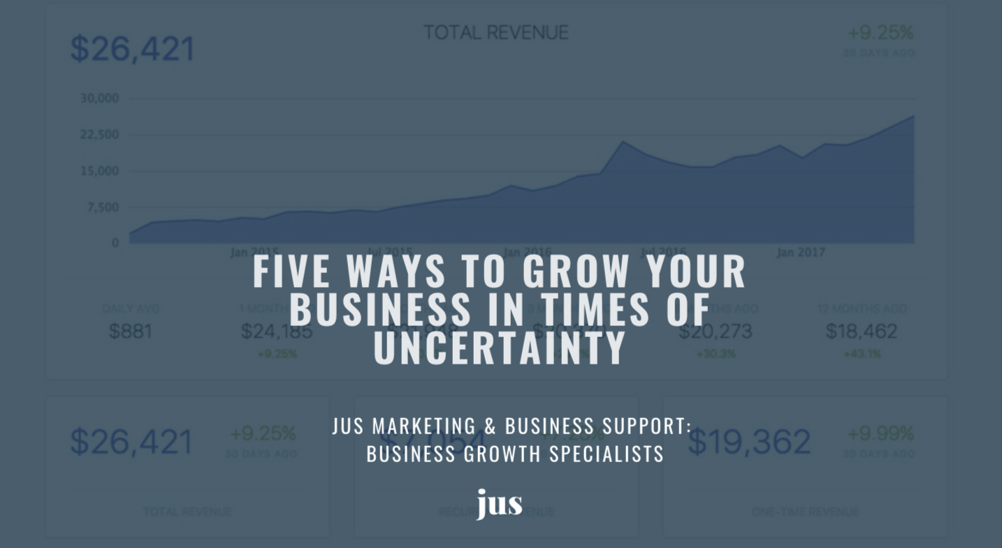 Five way to group your business in times of uncertainty
