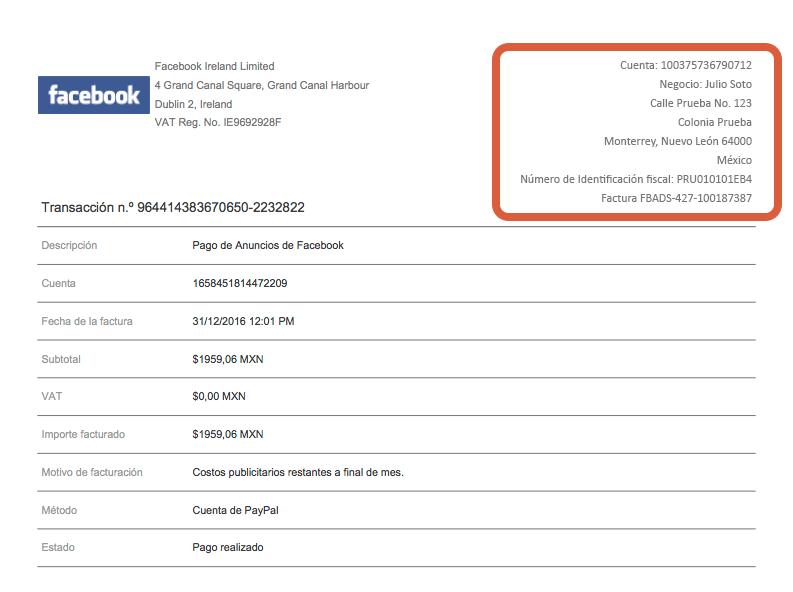 las facturas de facebook son válidas ante hacienda julio soto