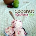Coconut Blackberry Lime Ice Cream