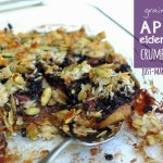 Grain-free Apple Elderberry Crumble Cake {A Flu Buster Dessert!}