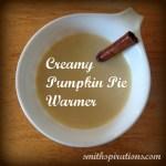Creamy Pumpkin Pie Warmer (naturally-sweetened & dairy-free option)
