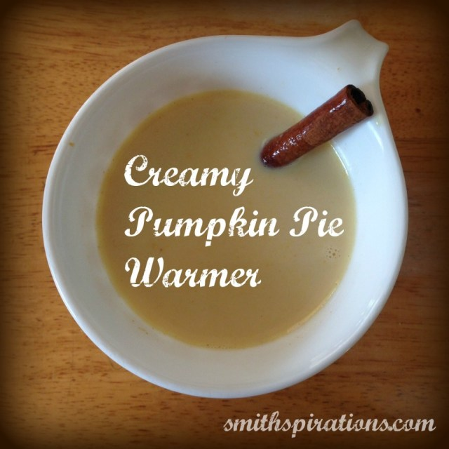 Creamy Pumpkin Pie Warmer... it's like pumpkin pie in a mug!