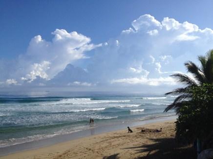 Wolken am Playa Encuentro