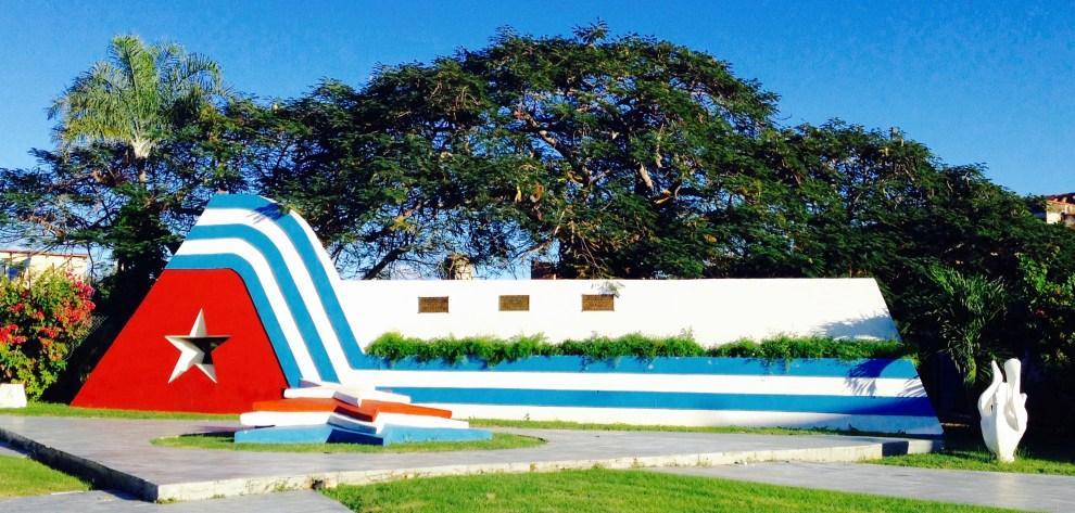 Kubanische Flagge Skulptur