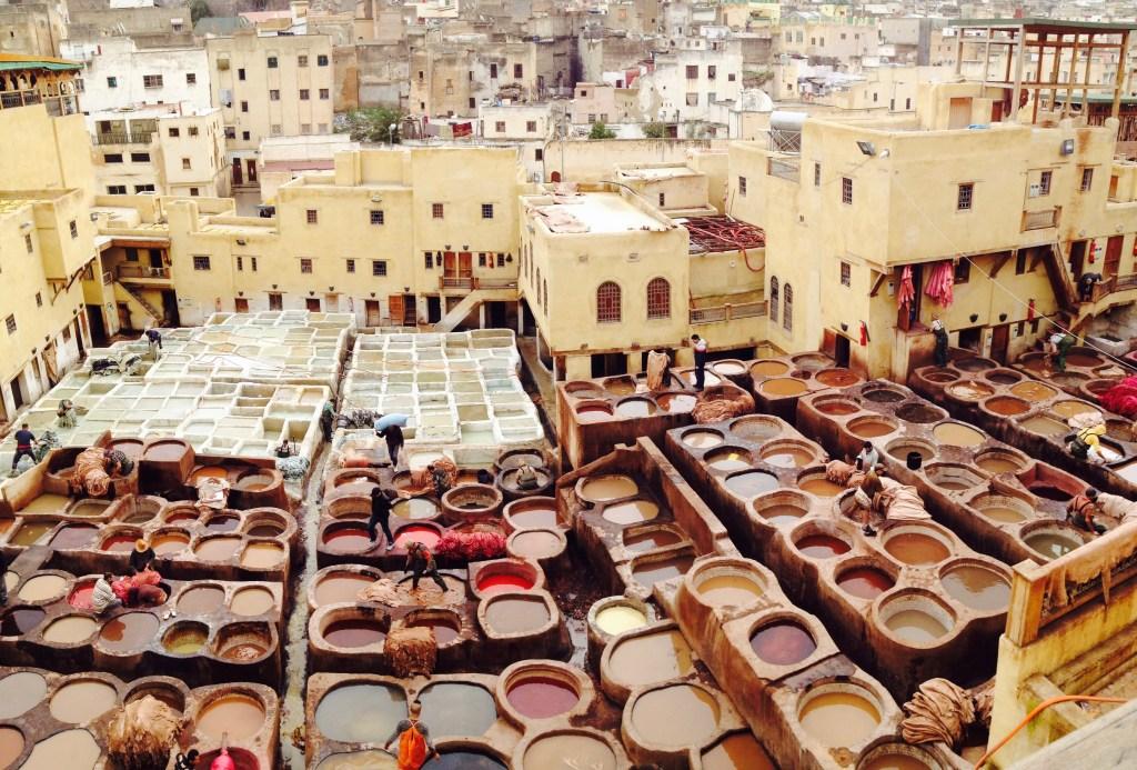 Gerbereien von Fes Marokko