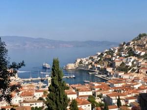 Aussicht Hydra Hafen