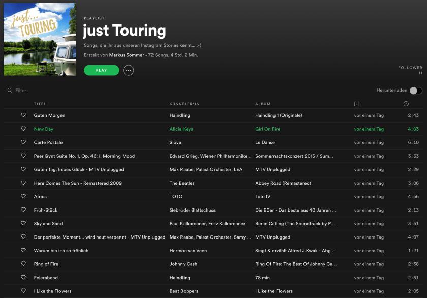 Playlist-Screenshot