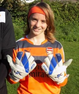 Lucy Arsenal FC, Lucy attended J4K Bushey and her dedication and desire for goalkeeping is inspiring and I wish her all the success at Arsenal.