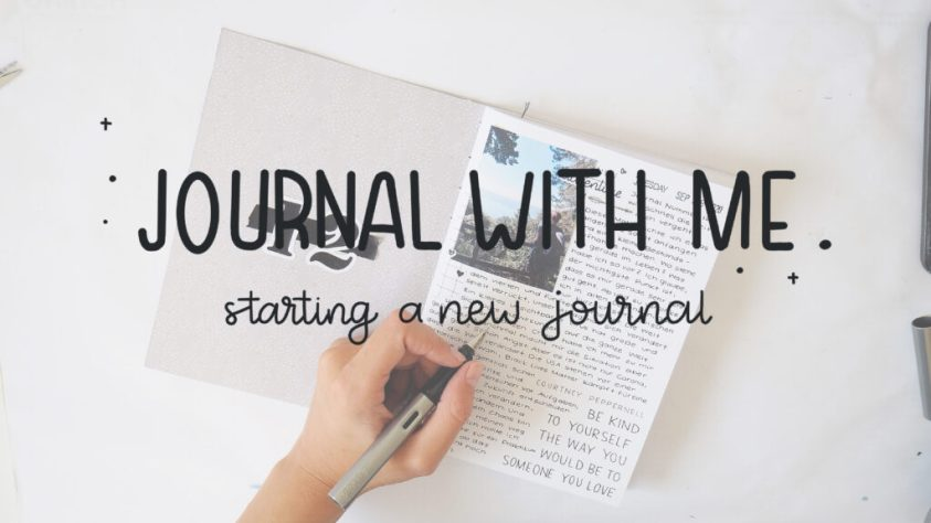 journal with me - how to start a new journal
