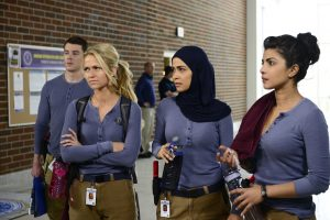 "QUANTICO - ""Run"" -- A diverse group of recruits has arrived at the FBI Quantico Base for training. They are the best, the brightest and the most vetted, so it seems impossible that one of them is suspected of masterminding the biggest attack on New York City since 9/11. The heart-pounding, thrilling new drama, ""Quantico,"" debuts SUNDAY, SEPTEMBER 27 (10:00-11:00 p.m., ET), on ABC. (ABC/Guy D'Alema) BRIAN J. SMITH, JOHANNA BRADDY, YASMINE AL MASSRI, PRIYANKA CHOPRA"