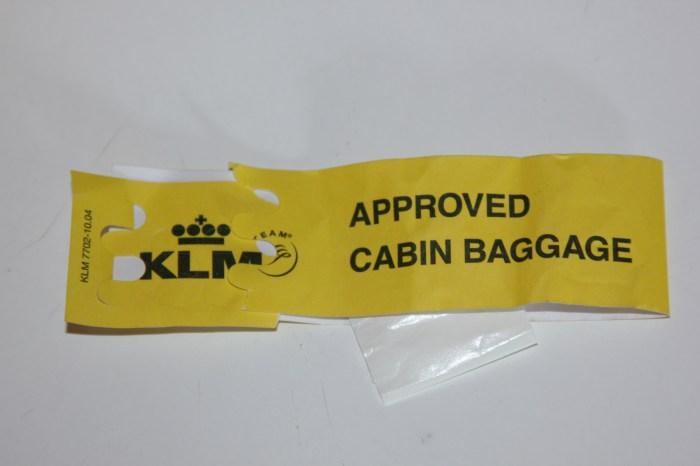KLM Carryon Tag