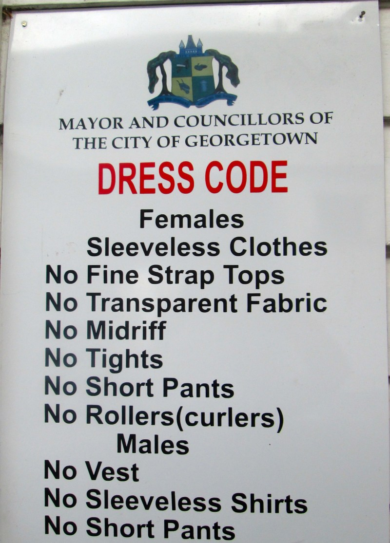 Dress Code Signs Are Common