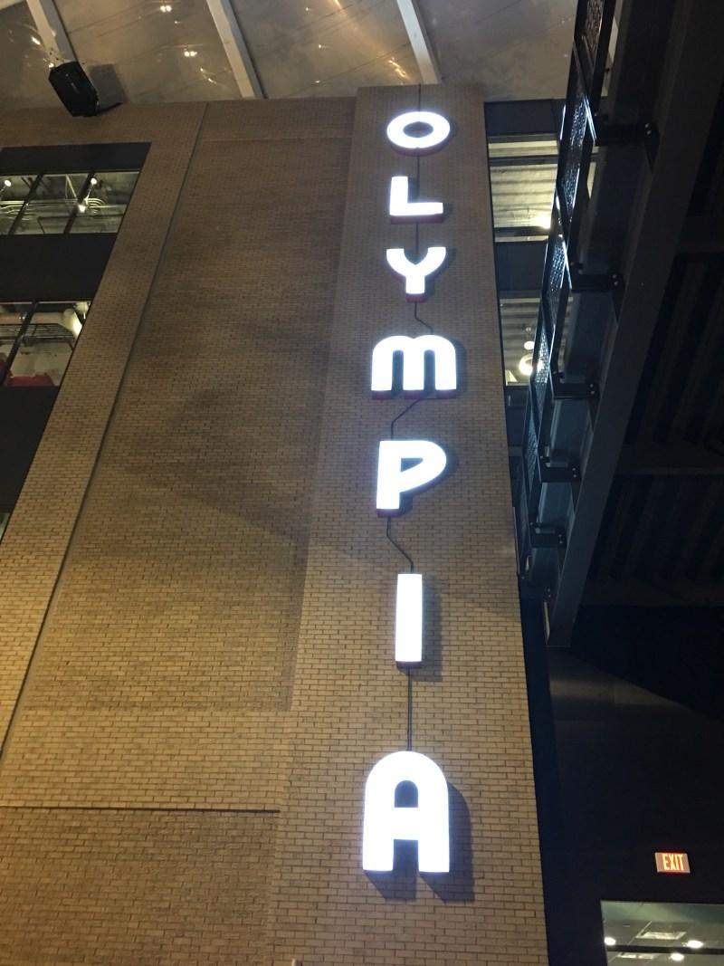 Olympia Stadium Sign