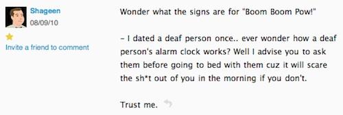 deaf alarm clock
