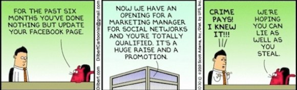 social media manager cartoon