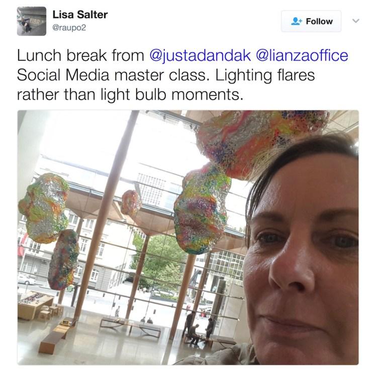 Lisa Salter on Twitter