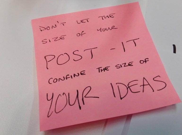 don't let post-it note quote small