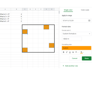 use conditional formatting to create a magic picture reveal worksheet