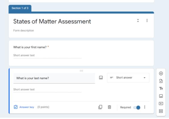 create a self grading quiz