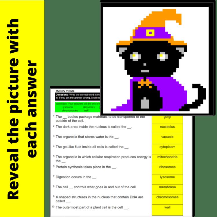 Halloween science pixel art