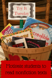 Ways to motivate students to read a variety of nonfiction texts.