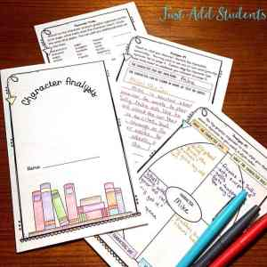 Teach characterization using short films and commercials.  Engage students with this fun graphic organizer.