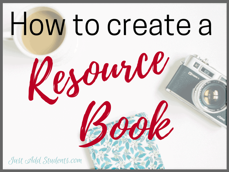 Create a resource book with your students.