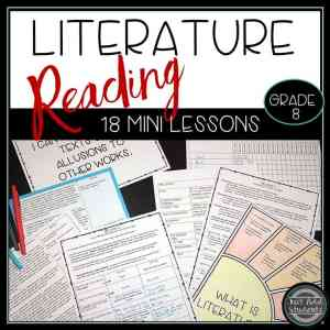 Need help teaching all the reading literature standards? Here are 18 mini lessons to help!