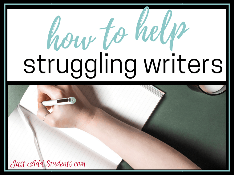 Searching for ways to help struggling writers? This post provides a variety of ways you can do that. Help your middle school students achieve writing fluency this year!