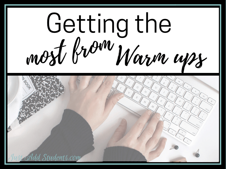 Are your students benefiting from writing warm ups or are they just busy work? Here are some practical tips for getting the most from these. And a free week's worth of interactive writing warm ups!