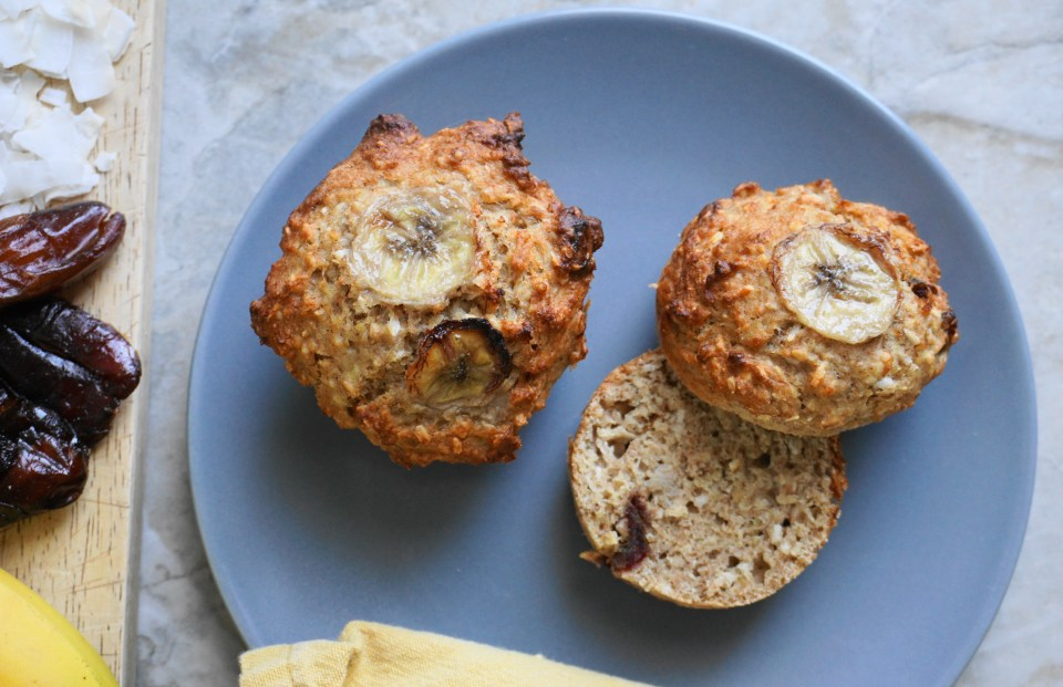 Banana date coconut muffins 3