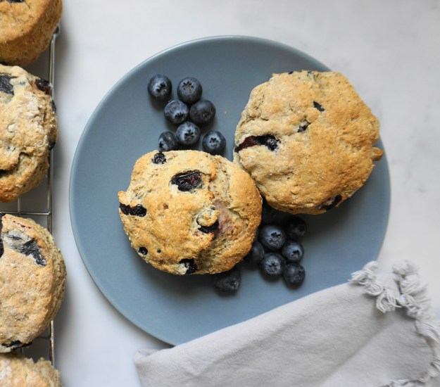 Blueberry ricotta scones plate 1