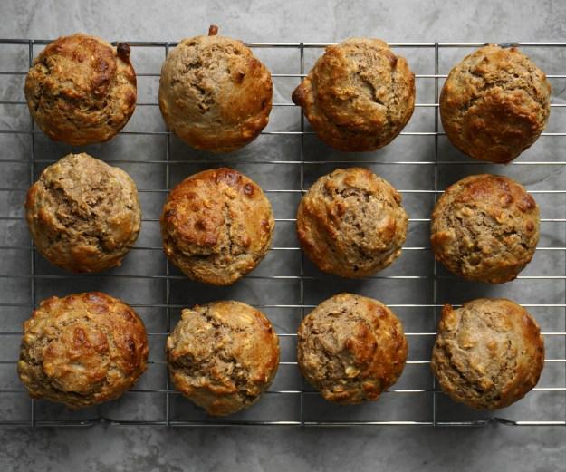 Peanut butter banana muffins 1