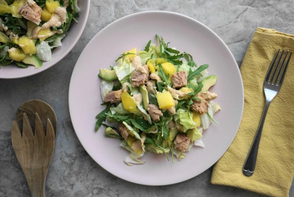 Tuna mango salad 1