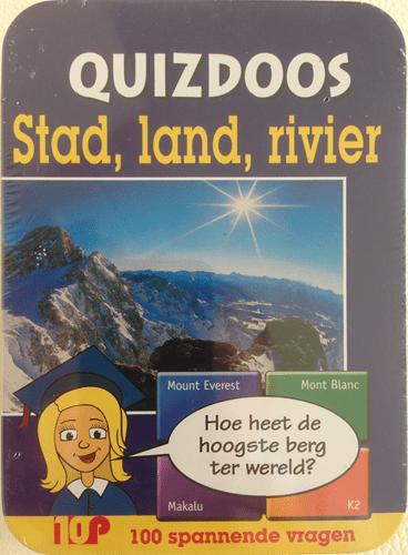 Quizdoos stad, land, rivier