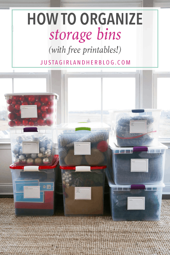 How To Organize Storage Bins With FREE Printables
