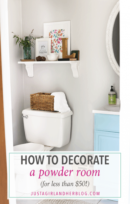 How To Decorate A Powder Room For Less Than