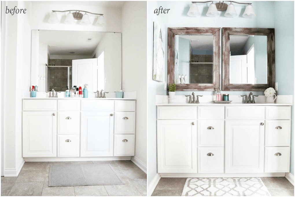 Simple And Inexpensive Ways To Update A Builder Grade Bathroom Abby Lawson