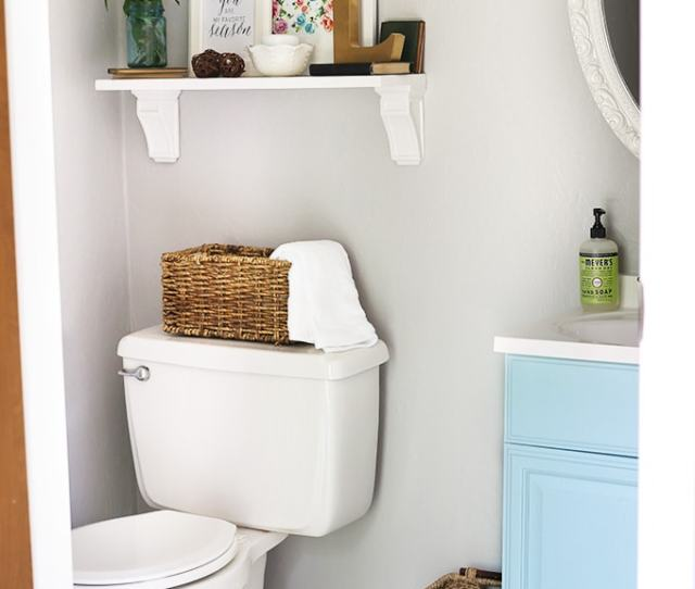 Simple And Inexpensive Ways To Update A Builder Grade Bathroom Just A Girl And Her Blog