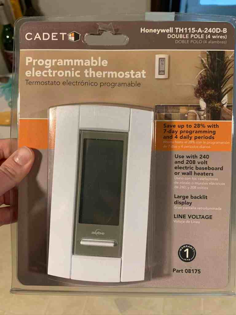 Cadet programmable thermostat