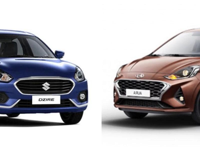 Hyundai Aura vs Suzuki Dzire – Who is the sub-4-meter sedan king?