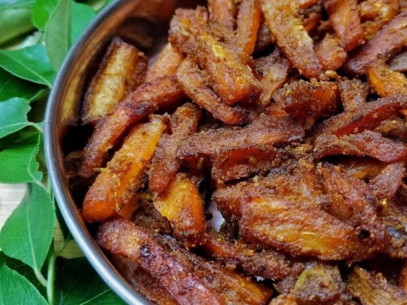 Madurai Special Veg | Vazhakkai varuval / Plantain Fry
