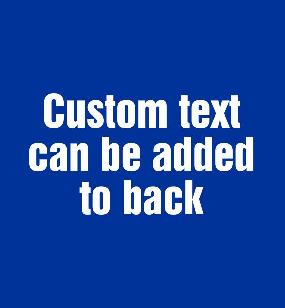 custom text on back